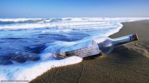 海の贈り物メッセージボトル